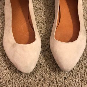 Madewell suede beige flats